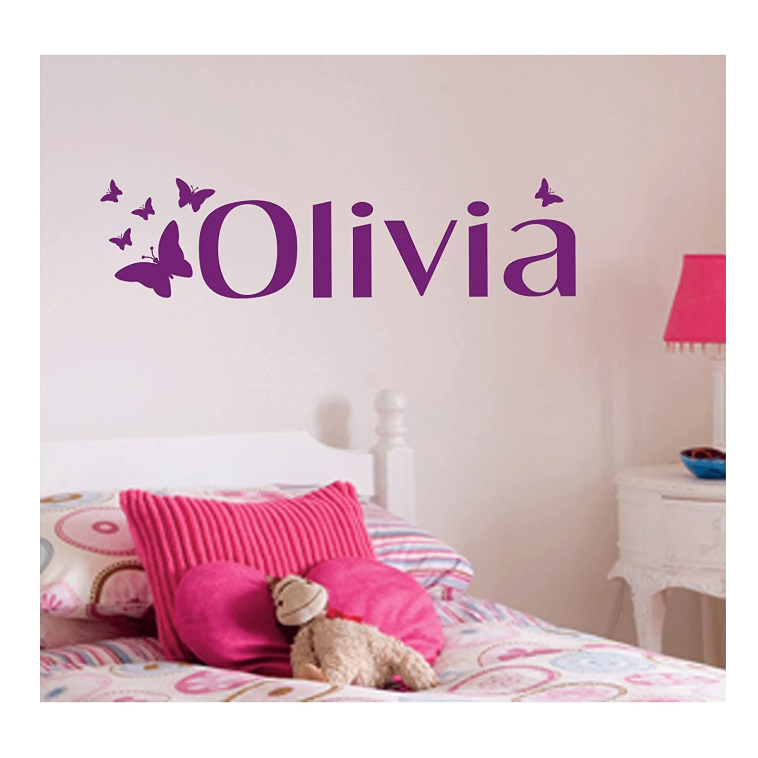 Personalised Butterfly Wall Sticker, Any Name, Any Colour, Childs Bedroom.:  Amazon.co.uk: Kitchen U0026 Home Part 60