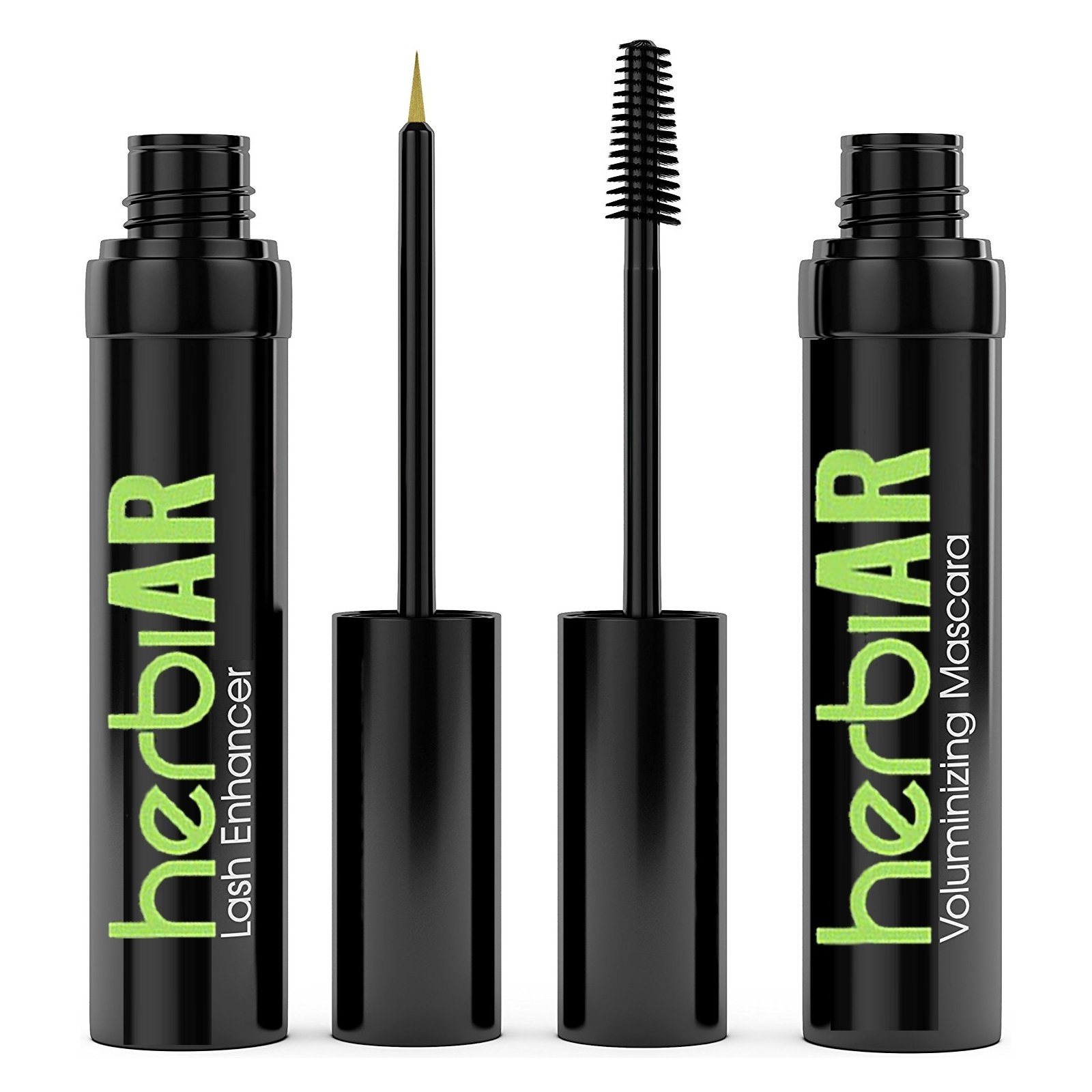 Advanced Lash Duo Growth Serum & Mascara COMBO Kit for Eyelash & Eyebrow - Grows Thicker, Longer, Fuller Lashes & Brows! Prevent Fall Out and Breakage with Advanced Strength Serum Enhancer herbiAR