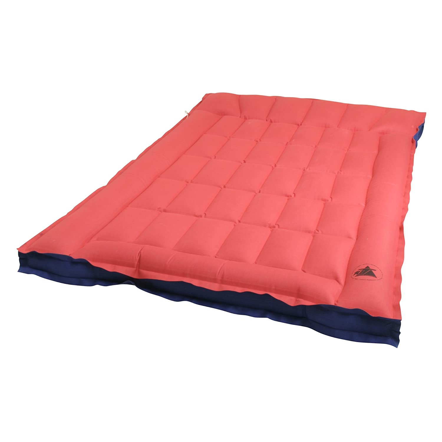 10T Ruby Double Box - Cotton double air mattress in a box shape with a top, wafer structure, 190x120x19 cm 10T Outdoor Equipment 760858 1020760858_rot_190x120x19 cm
