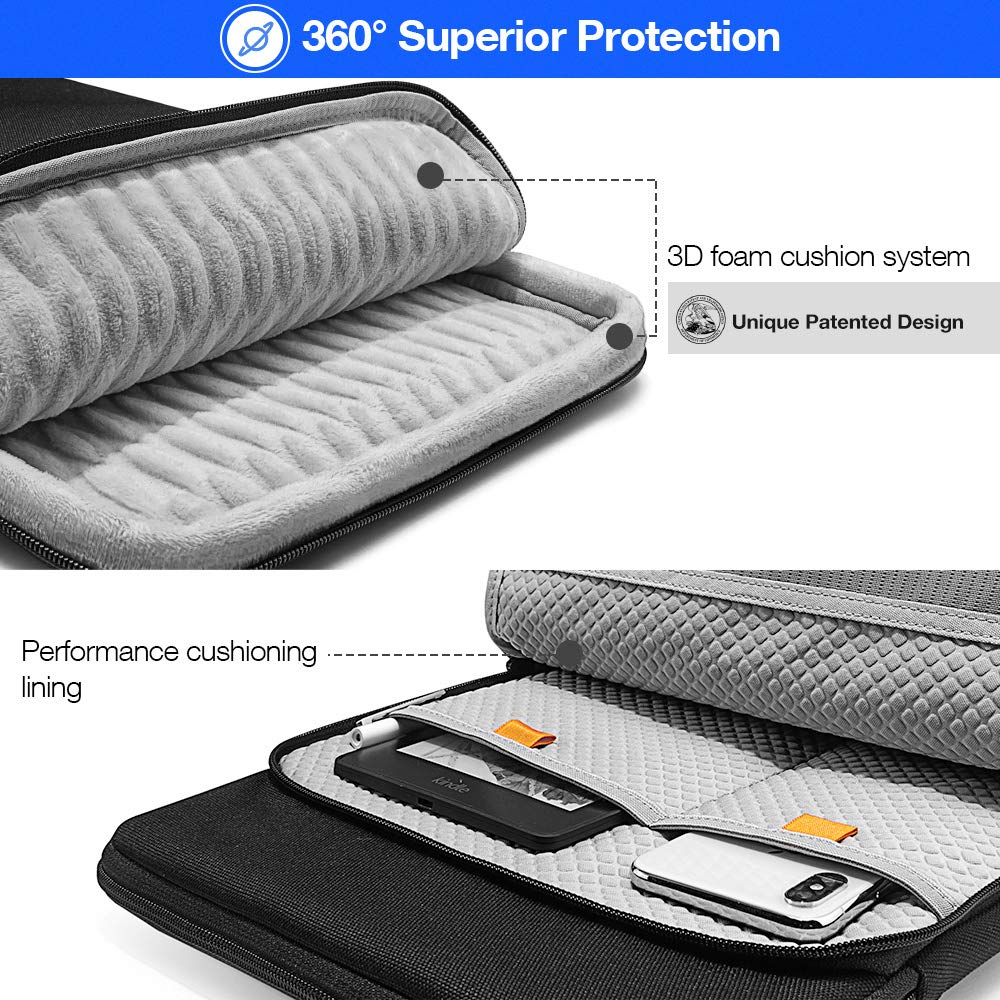 tomtoc 360 Protection Laptop Sleeve Designed for 15 Inch New MacBook Pro with USB-C A1707 A1990, with Handle and Organized Pocket for MacBook Accessories, Cordura Fiber by tomtoc (Image #5)