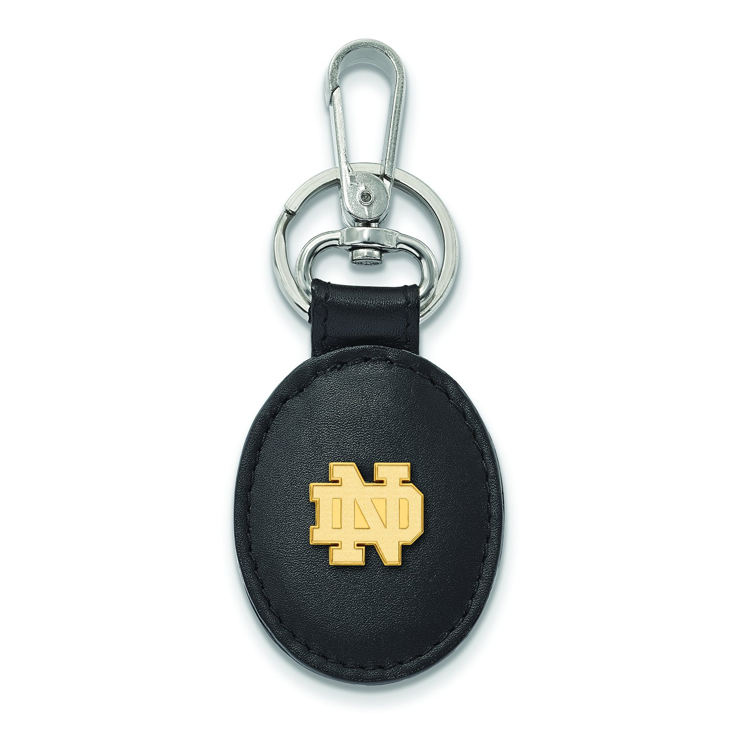 Logoart Sterling Silver Gp University Of Notre Dame Leather Attachment