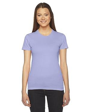 American Apparel Women's Fine Jersey Short Sleeve T-Shirt-Lavender