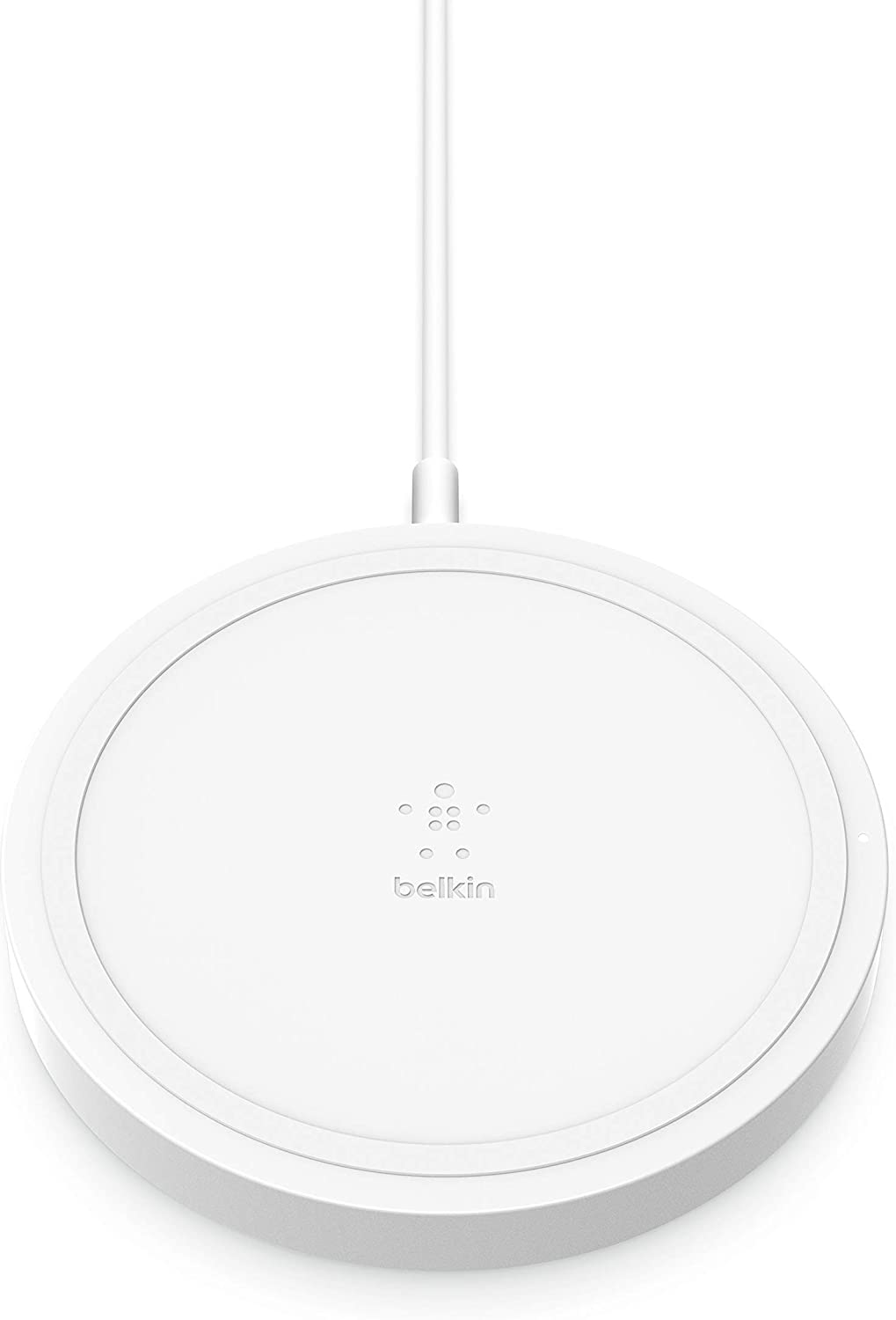 Belkin Wireless Charger, BoostUp 5W Charging Pad Qi-Certified Compatible with iPhone 12, 12 Pro, 12 Pro Max, Mini 11, SE, AirPods, Galaxy, Note, and All Qi Enabled Devices, White
