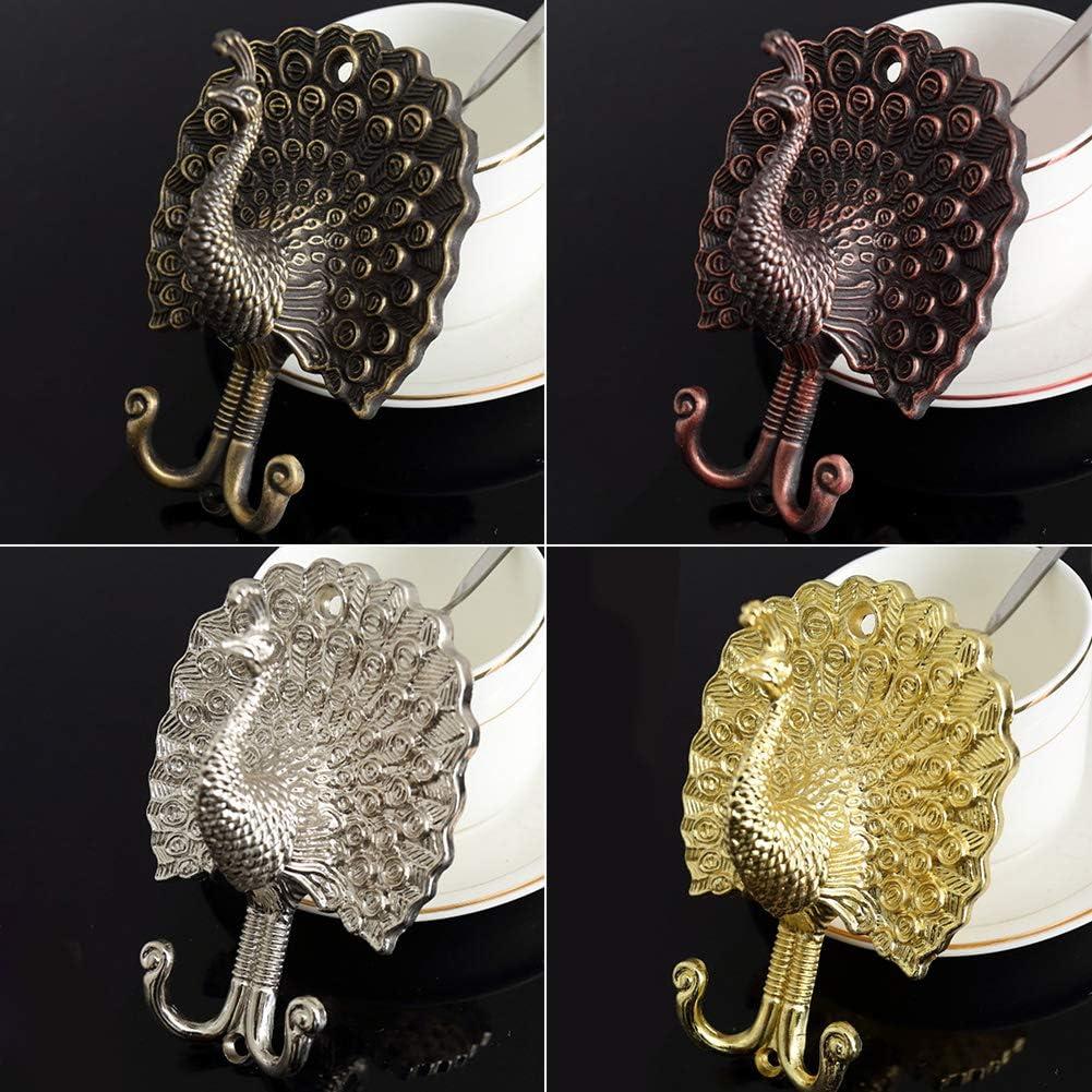 FADDR 1//10 st/ücke Kleiderhaken,Pfau Form Handtuchhalter Vintage Aluminiumlegierung Vorhang Raffhalter f/ür K/üche Bad Schlafzimmer