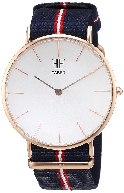 Faber Time Unisex-Armbanduhr Analog Quarz Nylon F704RG