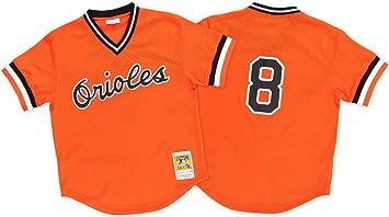 quality design 88c72 6eec9 Mitchell & Ness Cal Ripken Orange Baltimore Orioles Authentic Mesh Batting  Practice Jersey