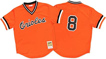 2443530b4cf Cal Ripken Orange Baltimore Orioles Authentic Mesh Batting Practice Jersey  XX-Large (52)