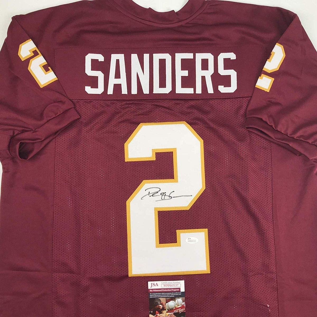 c7011aae939 ... coupon for autographed signed deion sanders florida state fsu maroon  college football jersey jsa coa at