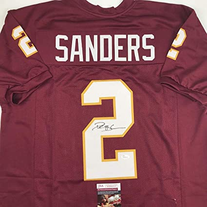low priced 92281 6f1f2 Autographed/Signed Deion Sanders Florida State FSU Maroon ...