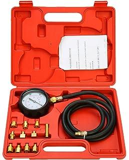 FreeTec 13 piezas para medir la presión del motor, comprobador 0 - 35 bar