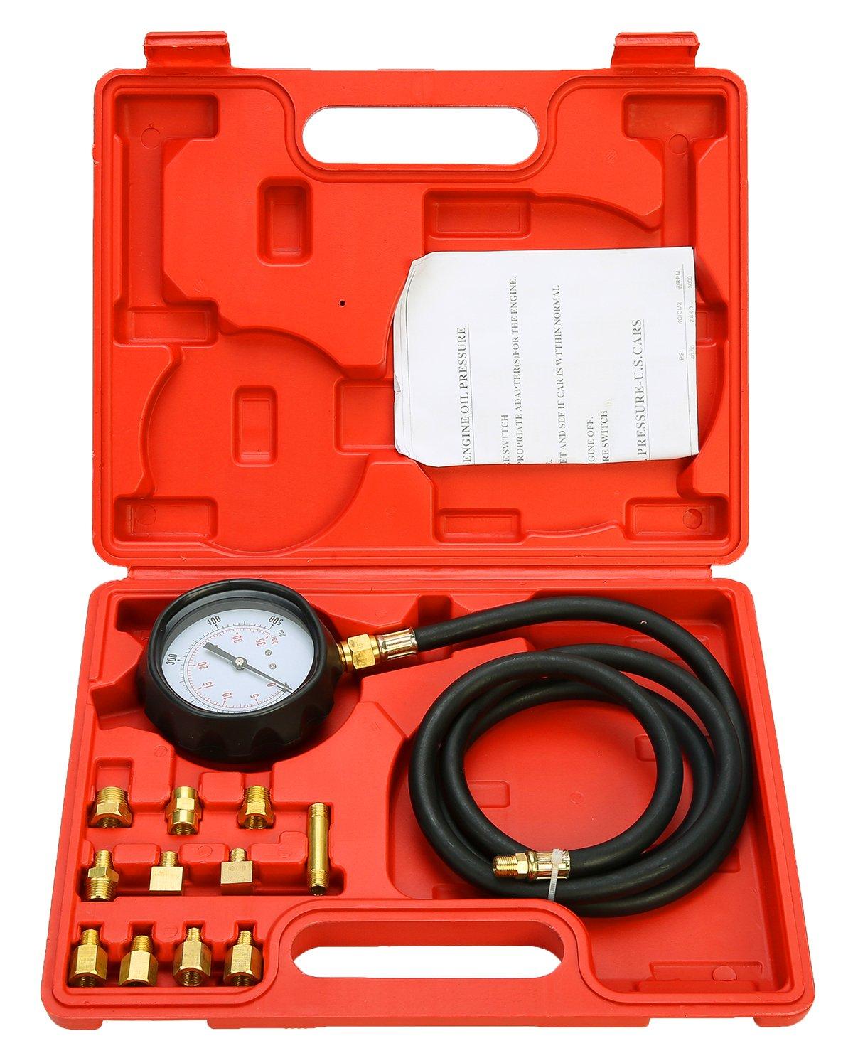 FreeTec 13 piezas para medir la presión del motor, comprobador 0 - 35 bar freebirdtrading FT0113