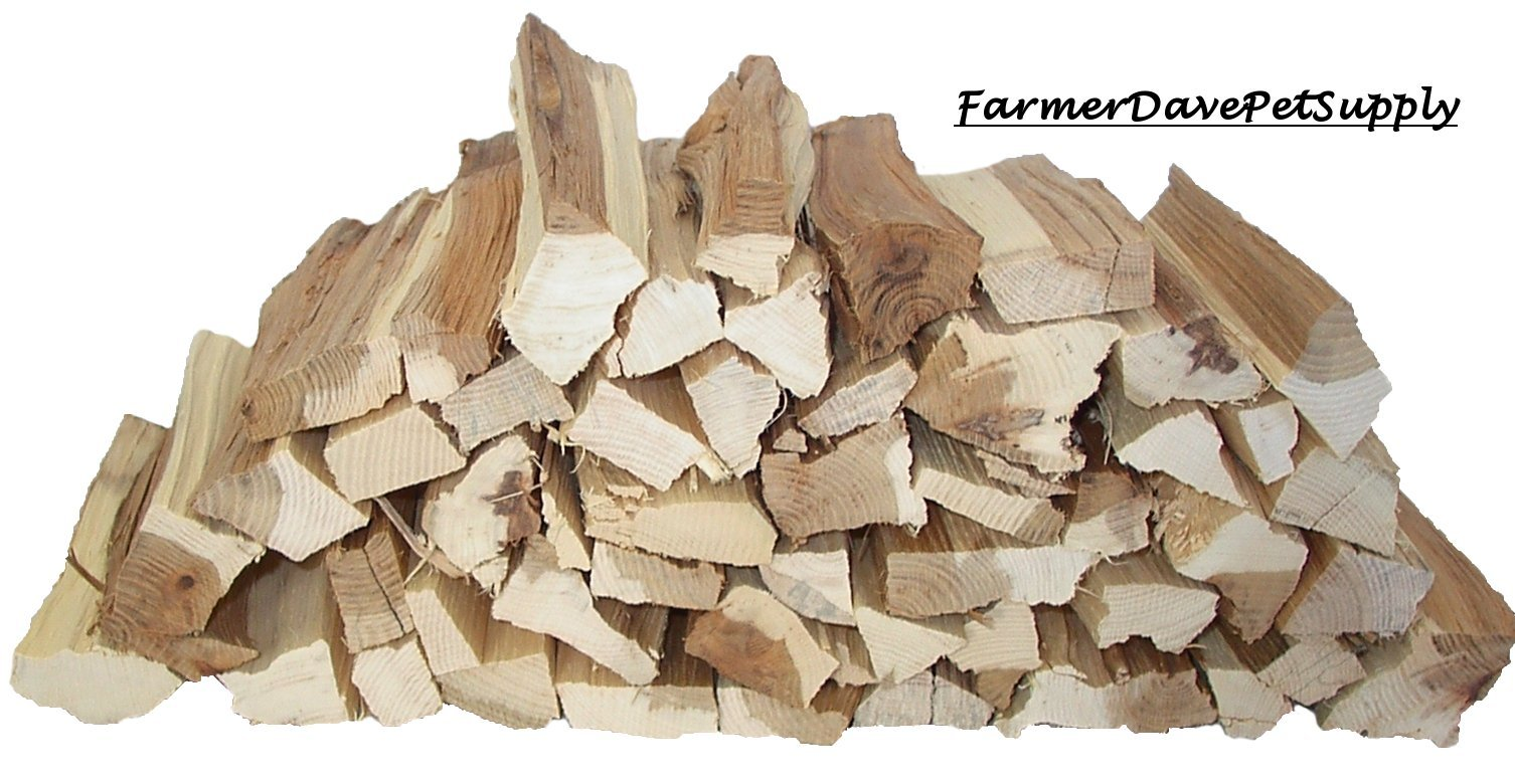 FarmerDavePetSupply 514 Cubic Inch Hickory BBQ Grilling Smoker Wood Splits