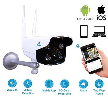 Ihaven Wifi Cámara Exterior con App Monitor Cámaras para el Hogar Vídeo Monitores Seguridad CCTV Inalámbrico Smart Alerta Sistema para Teléfono Visión ...