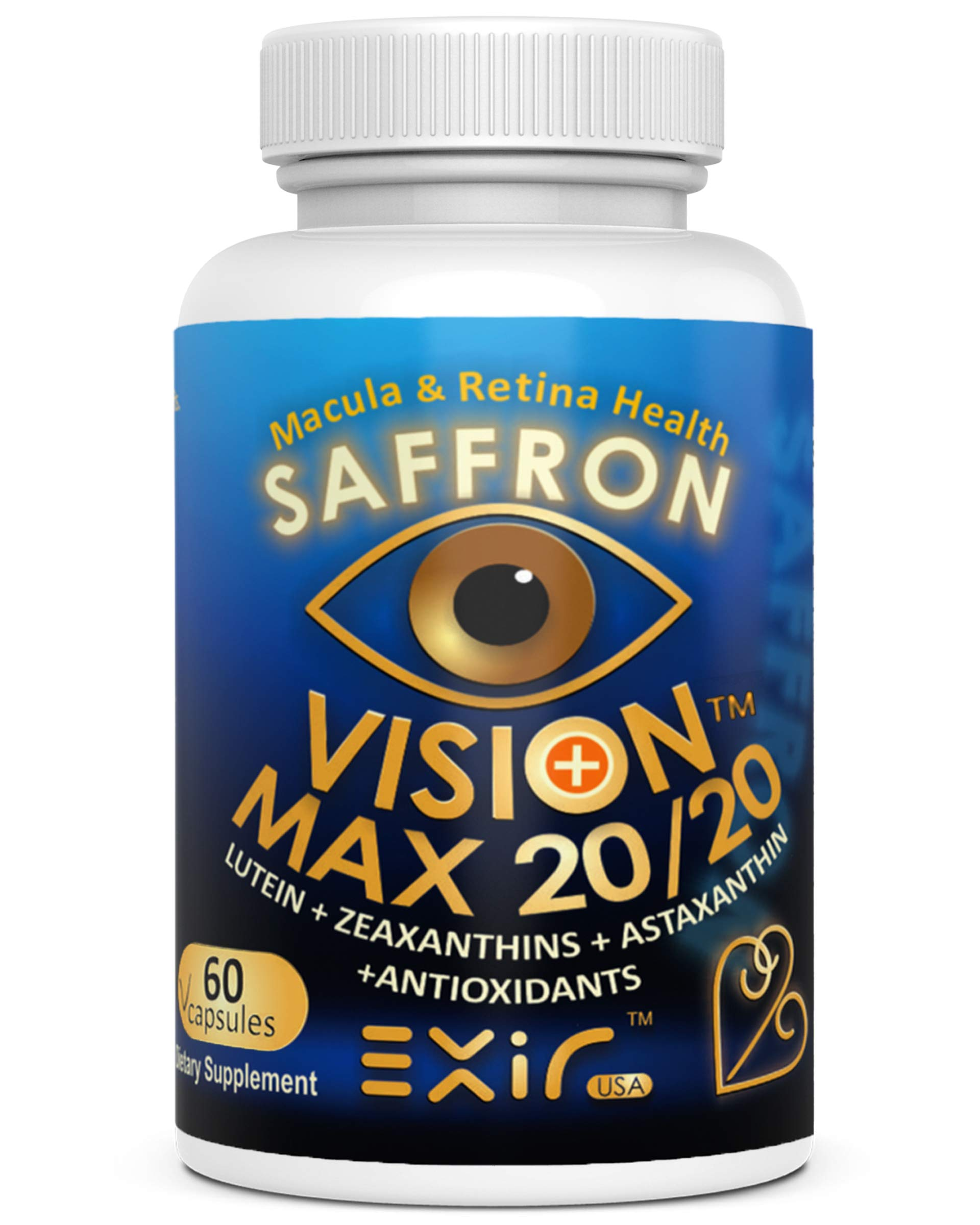 Vision Max 20/20® with Lutein + High Potency Other Carotenoids, Supports Vision Macular Health by EXIR