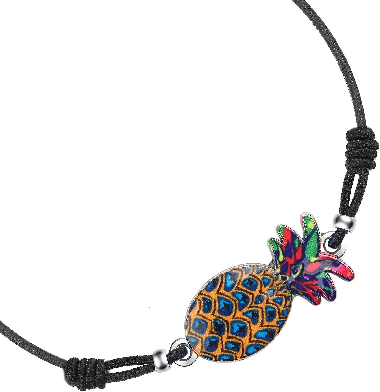 Made by Nami Anklet Bracelet de Cheville pour Femme Style Ethnique color/é