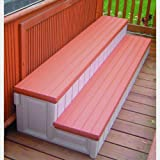 Leisure Accents Deluxe Spa Step, 36 Inches Long, Redwood/Beige