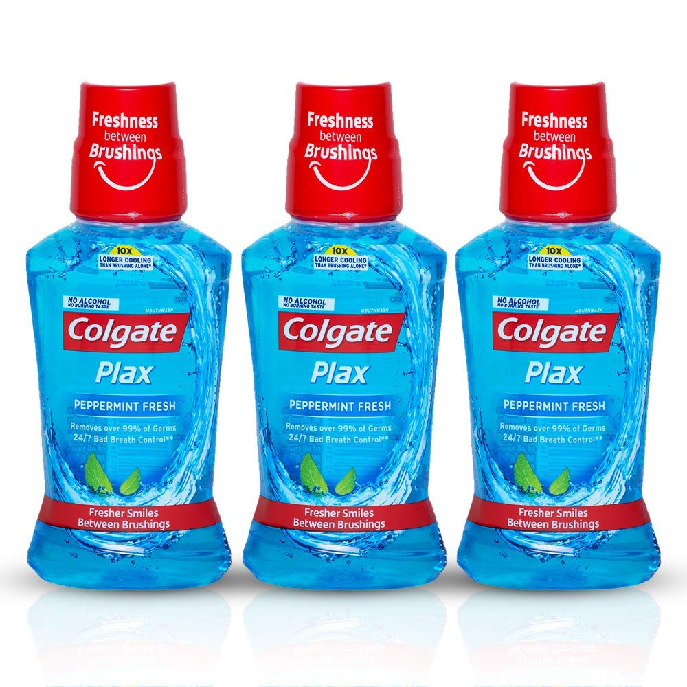 Colgate Plax Pepper Mint Mouthwash, 250ml (Pack of 3) product image