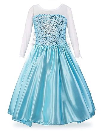 96a5d0e954065 Little Girls Elsa Dress Elsa Frozen Cloak Fever Dress Frozen Costume for  Girls Princess Anna Dress Toddler Elsa Dress