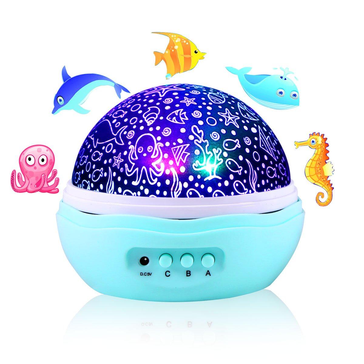 LEDプロジェクタナイトライト JL-PL-02 B074GLSVNZ 13746 Undersea World Projector Undersea World Projector