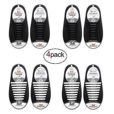 Oumers No Tie Cordones, Lazy tieless Silicona Goma Zapatillas Zapatos para niños y Adultos, Resistente al Agua/Resistente, fácil de Instalar/Off: Amazon.es: ...