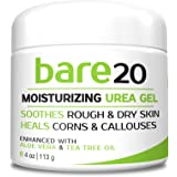 Bare Urea 20% Percent Cream for Hands, Feet, Elbows and Knees - Corn & Callus Remover - Skin Exfoliator & Moisturizer - Repairs Thick, Callused, Dead and Dry Skin