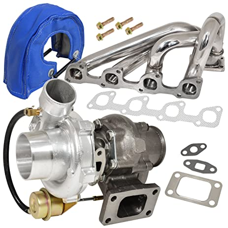 Volve 240 740 940 2.3L N/A Engine Manifold Stainless Steel + T3/T4
