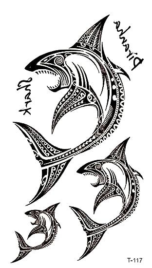 Amazon.com: shark ocean life temporary tattoo body art tattoo: Clothing