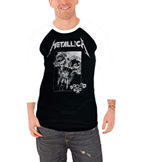 Metallica T Shirt Damage Inc Distressed Band Logo Official Mens Baseball Shirt
