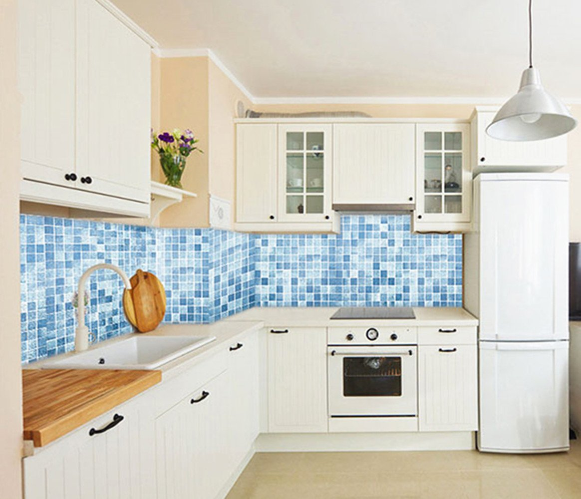 Amazon.com: BESTERY Self-adhesive Mosaic Kitchen Backsplash Tiles ...