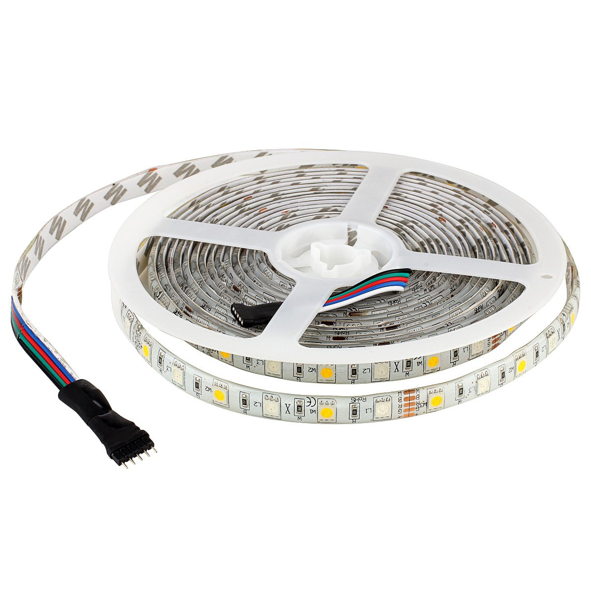 Supernight Rgbw Led Strip Light Rgb Color Changing Rope 12 Volt Wiring Diagram Free Picture Lighting With Warm White 3500k 164ft 300leds 5050 Tape