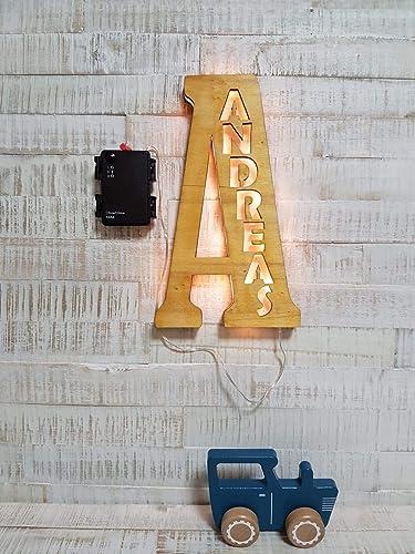 Personalisiertes LED Nachtlicht Schlummer licht mit Namen
