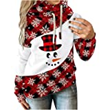 Hoodies for Women, Womens Christmas Hooded Sweatshirts Turtle Neck Tops Winter fall Pullover Long Sleeve Jackets