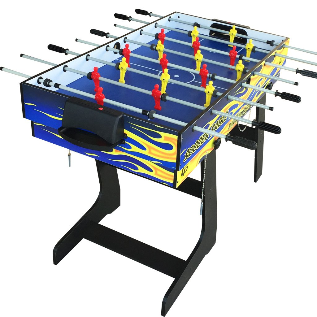 IFOYO Multi-Function 4 in 1 Steady Combo Game Table, Hockey Table, Soccer Foosball Table, Pool Table, Table Tennis Table, Yellow Flame, 48 in / 4 ft, Christams Gift by IFOYO (Image #4)