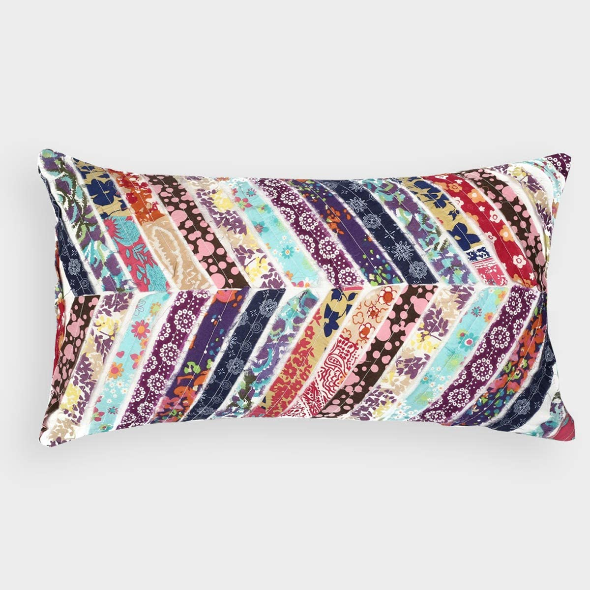 A1 Home Collections RCC-1681 Patchwork Cotton Throw Pillow Multi-Color