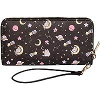 Pusheen The Cat Pusheenicorn Constellation Stars Zippered Wristlet Wallet