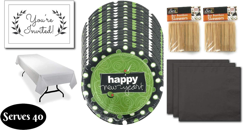 Amazon.com: Juego de vajilla desechable para fiestas de Año ...