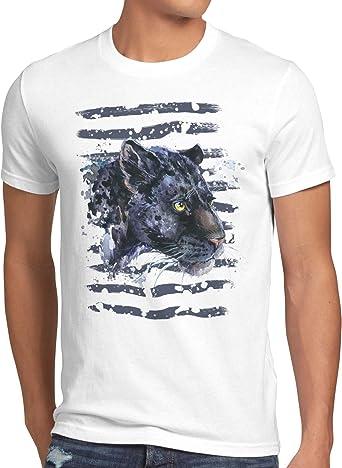 style3 Pantera Negra Camiseta para Hombre T-Shirt Zoo Leones ...
