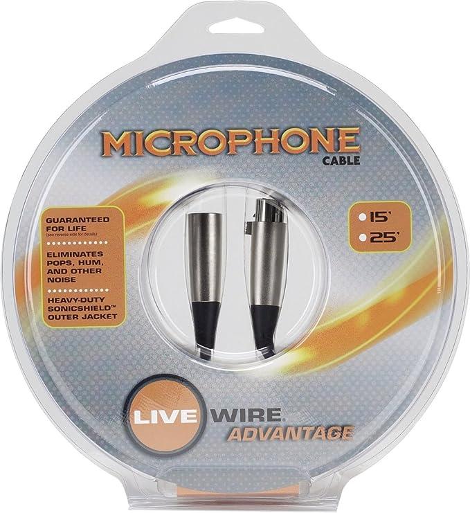 Amazon.com: Live Wire Advantage Standard EXM Series Microphone Cable ...