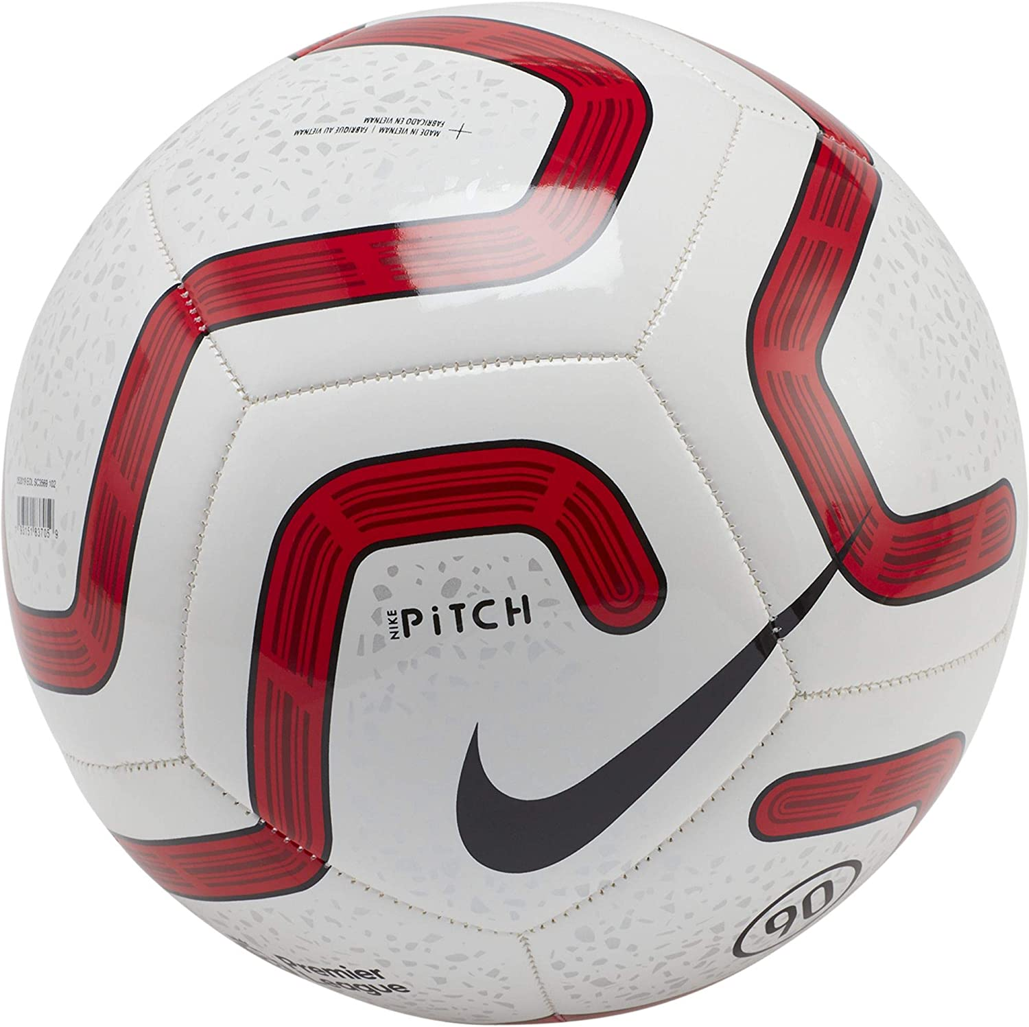 Amazon.com : Nike Premier League Pitch Soccer Ball- (White/Red) : Sports &  Outdoors