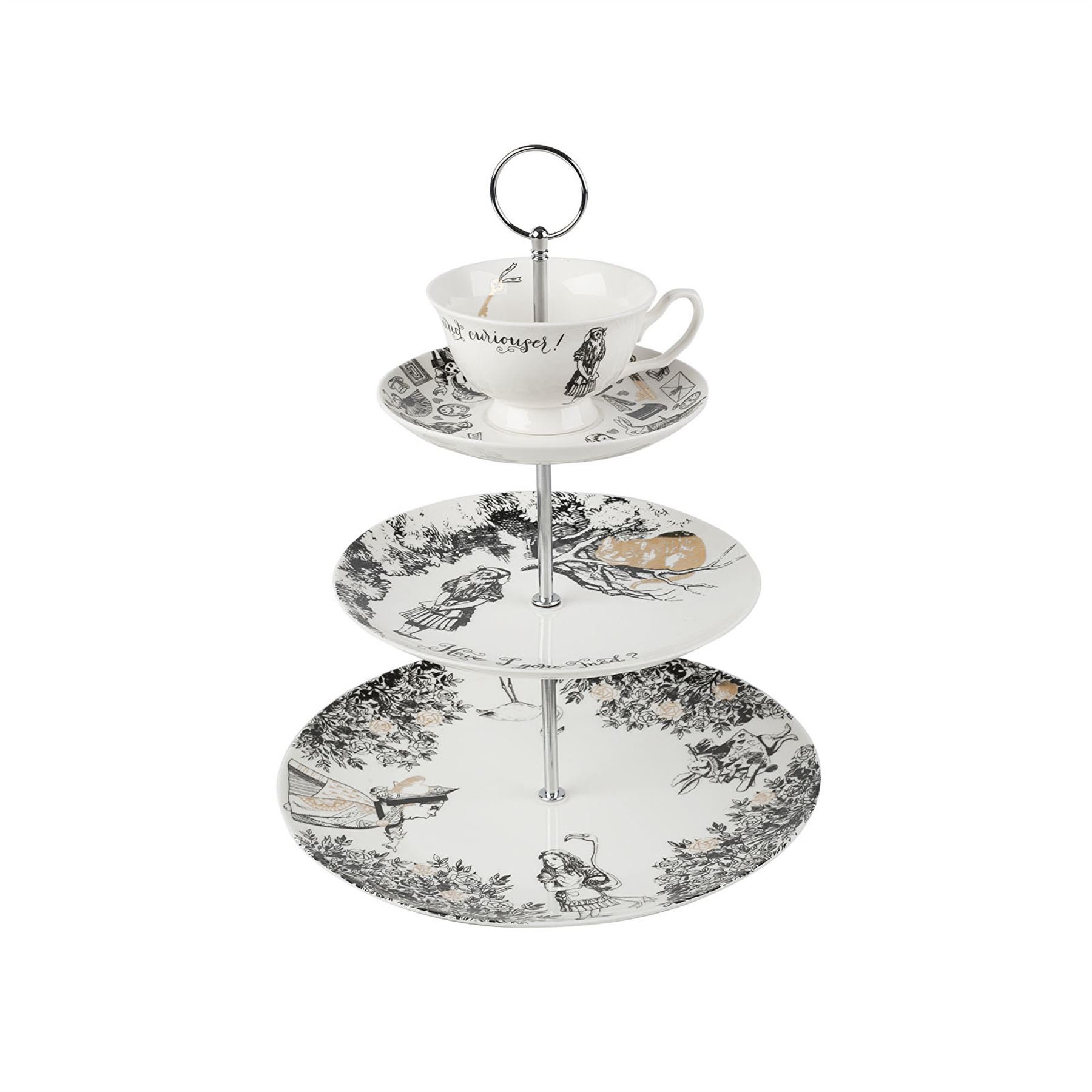 Creative Tops V&A Alice in Wonderland 3 Tier China Teacup Cake Stand Gift Boxed by CreativeTops (Image #1)