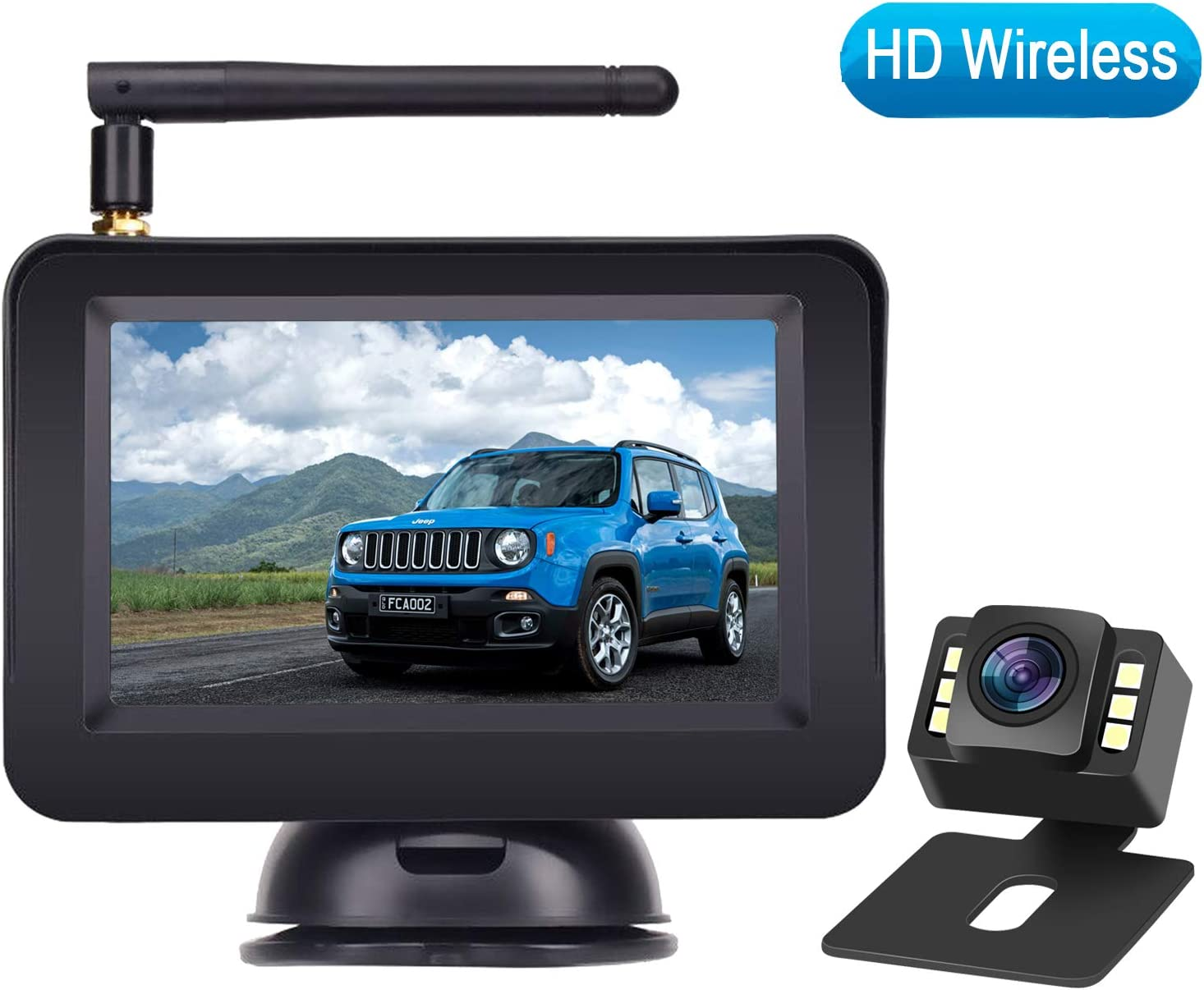 "Rohent HD Color Wireless Backup Camera and 4.3"" Monitor System For Cars/"