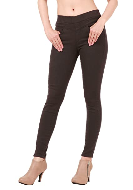 b40195f44c0 Mascara Women Skinny Jeans Jeggings Pants Elastic Waist Winter-Black Small