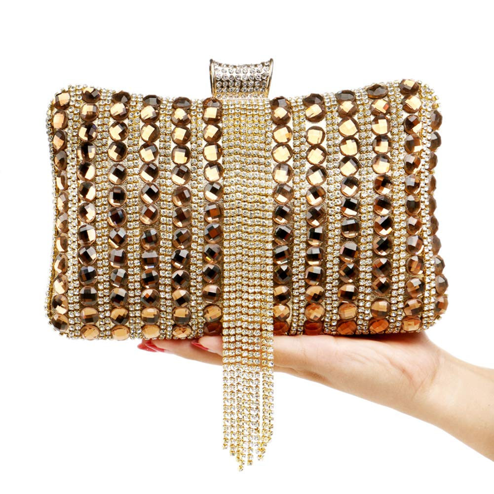 Wedding Clutch Purse Evening Bags For Womens Chain Dress Handbag Fringe