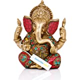 "Collectible India 5.5"" Lord Ganesha Brass Statue 