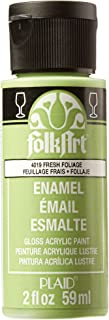 product image for FolkArt Enamel Glass & Ceramic Paint in Assorted Colors (2 oz), 4019, Fresh Foliage