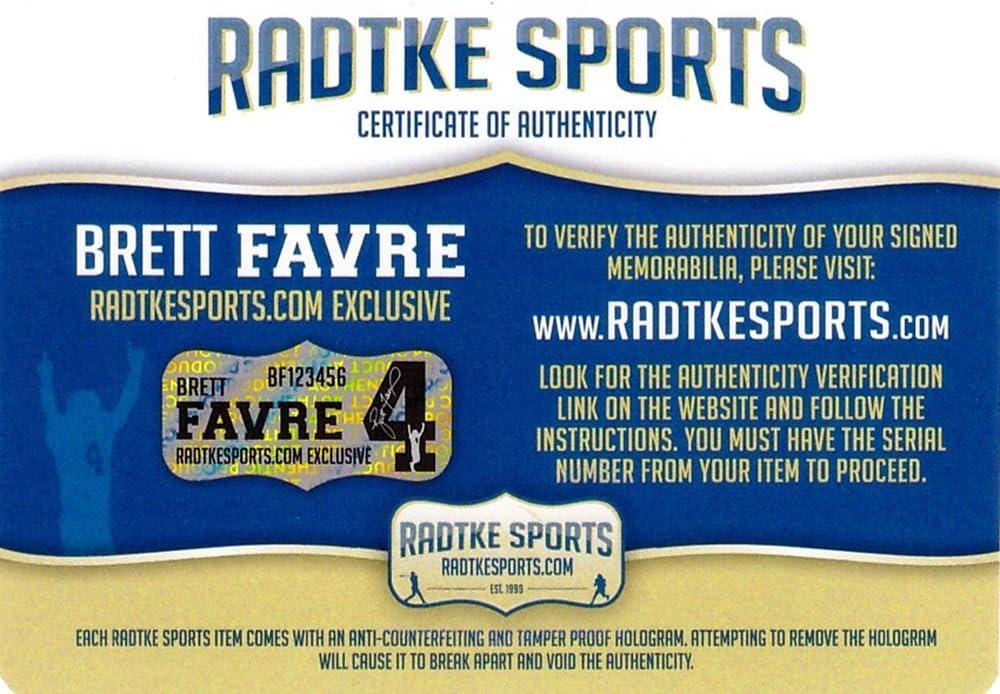 Brett Favre Autographed//Signed Green Bay Packers NFL Mini Helmet