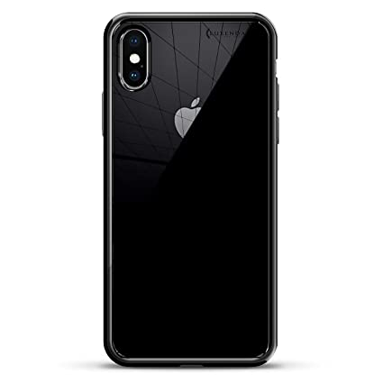 BROOKLYN BRIDGE SEETHROUGH | Luxendary Chrome Series designer case for iPhone X in Titanium Black trim