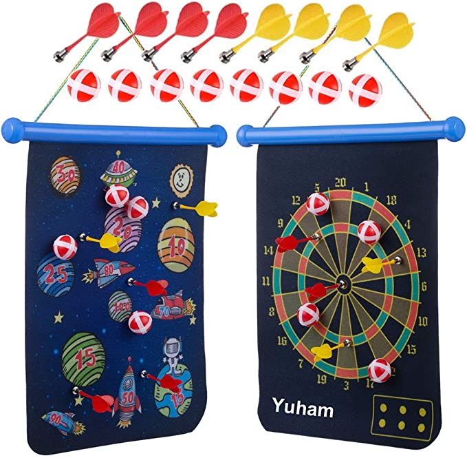 Yuham Magnetic Dart Board - Best Outdoor Dartboard for Kids