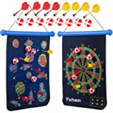Yuham Magnetic Dart Board Indoor Outdoor Games for Kids and Adults, Toys Gifts for 5 6 7 8 9 10 11 12 Year Old Boy…