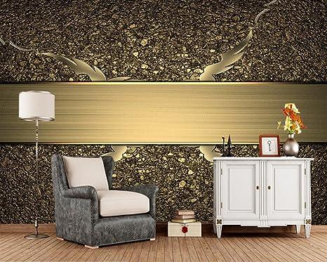 Yosot Textur Farbe Gold 3D Tapeten Wohnzimmer Fernseher Sofa ...